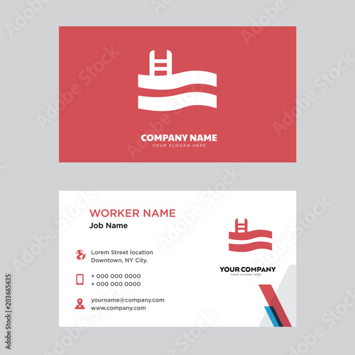 Swimming Pool Business Card Design Stock Image And Royalty Free