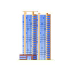 Urban skyscraper office building, modern high-rise architectural structure.