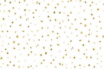 Seamless pattern of Golden confetti isolated on white background
