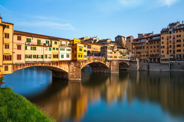 Photo sur Aluminium Florence Bridge Ponte Vecchio in Florence, Italy