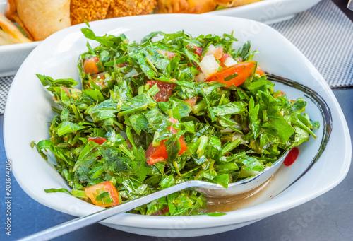 Cuisine Libanaise Salade Fatouche Au Persil Stock Photo And