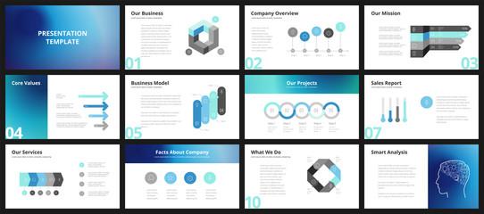 Obraz Business presentation templates - fototapety do salonu
