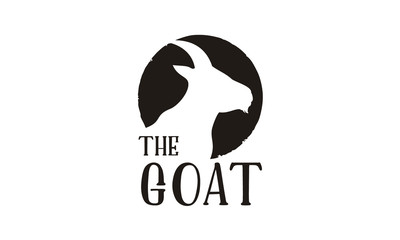 Goat Head Silhouette logo design inspiration