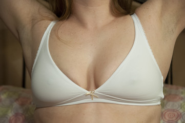 Simple White Brazzier (Panty By Post)