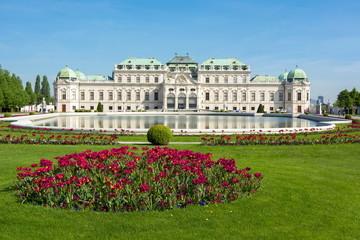 Fond de hotte en verre imprimé Vienne Upper Belvedere palace, Vienna, Austria