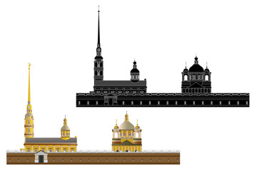 Peter and Paul Fortress, isolated