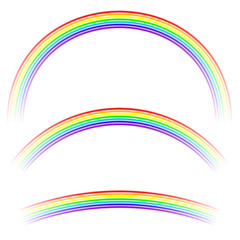 Rainbow Icon Isolated