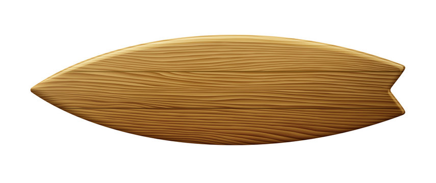 Clean Wooden Surfboard