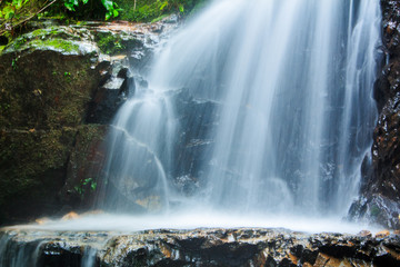 Tam nang waterfall ,in the forest tropical zone ,national park Takua pa Phang Nga Thailand