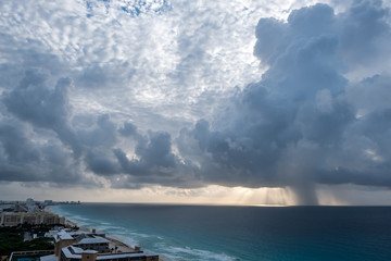 Approaching Rain - Cancun Morning Sun