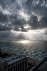 Approaching Storm - Cancun Beach