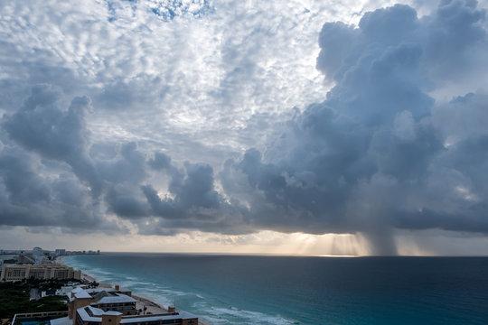 Approaching Rain - Cancun Morning Sun