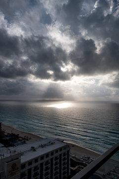 Approaching Storm - Cancun Beach