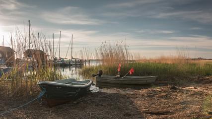 Fischerboote im Yachthafen, Bootshafen Gager Ruegen. Ostsee