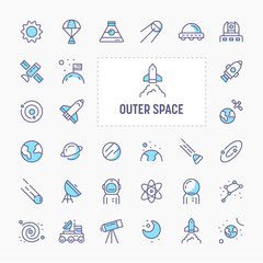 Outer Space Minimal Icon Set