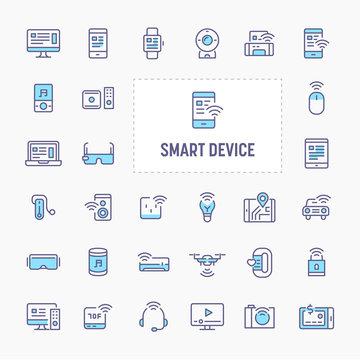 Smart Gadget & Device Icon Set