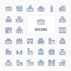 Buildings & Architecture Icon Set