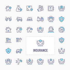 Business & Personal Insurance Icon Set