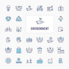 Eco-Friendly Environment Icon Set