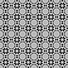 Seamless decorative pattern in a b;lack - white colors