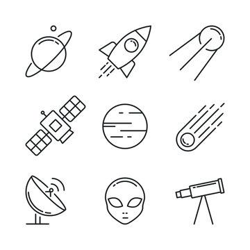 Icon set space