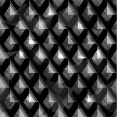 Seamless abstract 3d geometric background - vector eps10