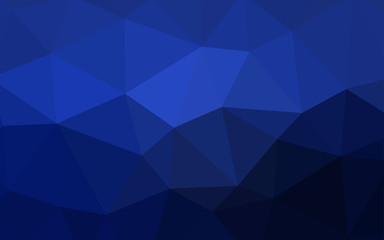 Dark BLUE vector polygon abstract background.