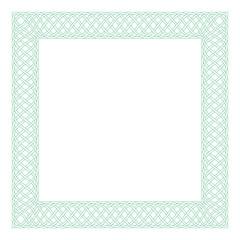 Square celtic knots frame. Traditional medieval frame pattern illustration. Scandinavian ornament as border or frame.