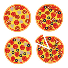 Vector illustration of a pizza to decorations, banners, websites, flyers, brochures.