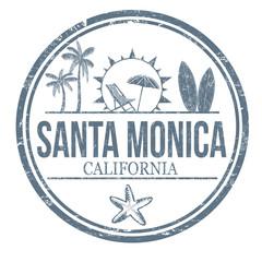 Santa Monica grunge rubber stamp