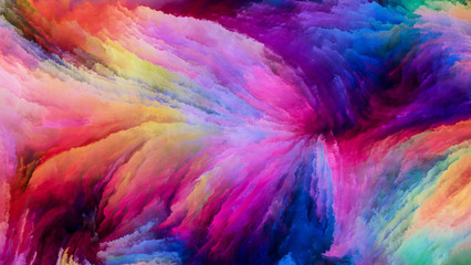Speed of Colorful Paint