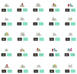 Set collection of abstract city logo