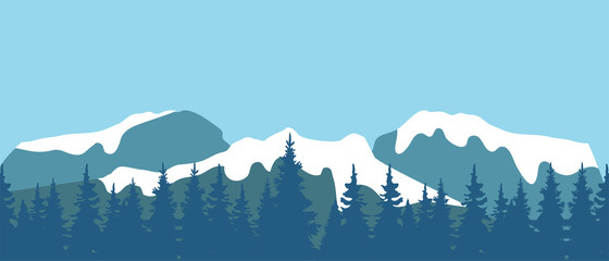 Vector Mountain Landscape