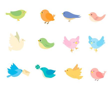 可愛い鳥のイラスト
