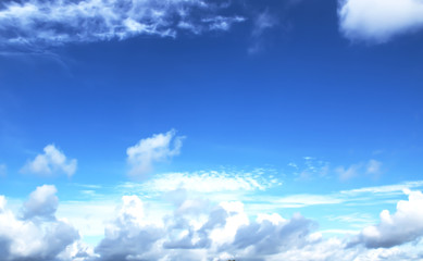 beautiful blue sky with white clouds backgrounds