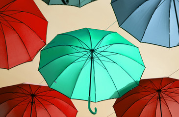 A fantasy of colored umbrellas