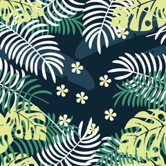 Tropical plants pattern, seamless pattern, summer pattern