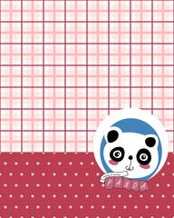 Giant Panda Cartoon Background