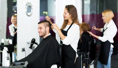 man in the barbershop