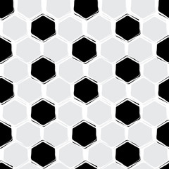 Vector seamless pattern, football style