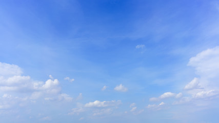 Beautiful white clouds and blue sky for background
