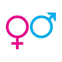 Symbols of women and men