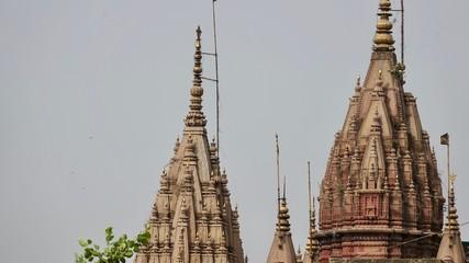 Varanasi, Benares Stadtansicht, Altstadt und Gebäude