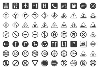 Traffic sign solid icon vector