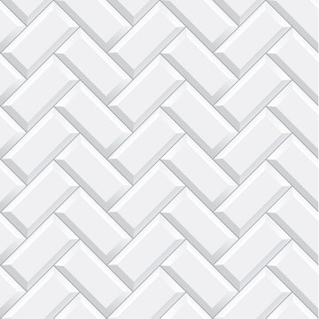 Seamless herringbone subway tile texture - vector illustration