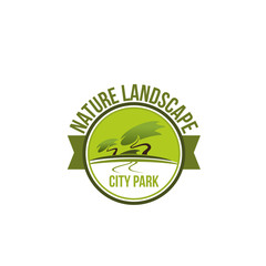 Emblem for city park