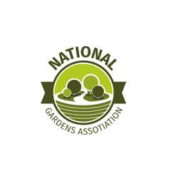 Gardens association vector sign