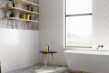 White brick bathroom