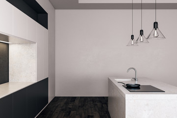 Light kitchen with copyspace