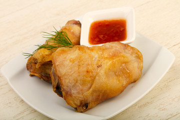 Baked chicken leg